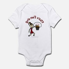 (Lady Torches-1) Basketball Infant Bodysuit