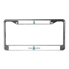 Ovarian Cancer Survivor License Plate Frame