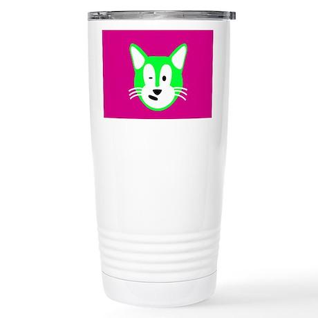Sam Cat Stainless Steel Travel Mug