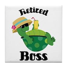 Retired Boss Gift Tile Coaster
