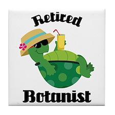 Retired Botanist Gift Tile Coaster