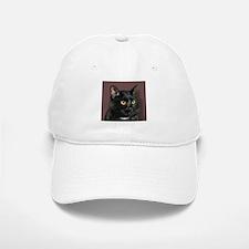 Black Cat wYellowEyes Baseball Baseball Cap