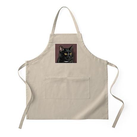 Black Cat wYellowEyes BBQ Apron