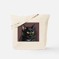Black Cat wYellowEyes Tote Bag