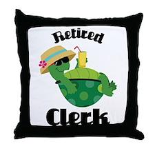 Retired Clerk Gift Throw Pillow