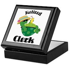 Retired Clerk Gift Keepsake Box