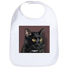 Black Cat wYellowEyes Bib