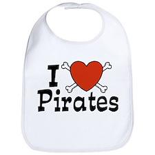 I Love Pirates Bib