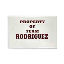 Property of team Rodriguez Rectangle Magnet