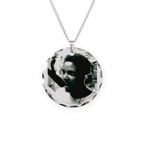 DJ CLASS PICTURE Necklace Circle Charm