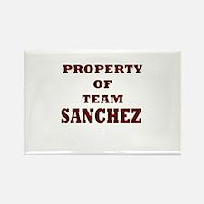 Property of team Sanchez Rectangle Magnet