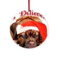 Dogue Believe Ornament (Round)