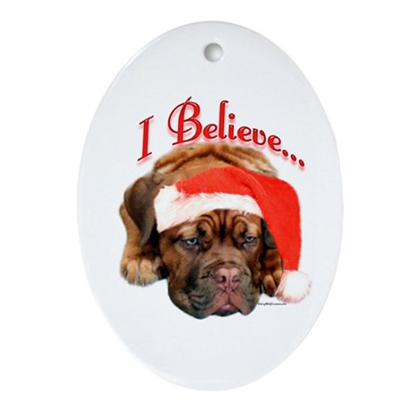 Dogue Believe Oval Ornament