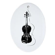Violin Oval Ornament