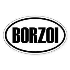 Borzoi Oval Decal