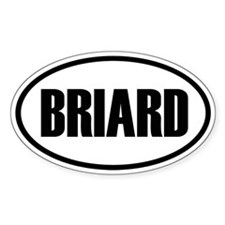 Briard Oval Decal