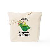Retired english teacher Canvas Bags