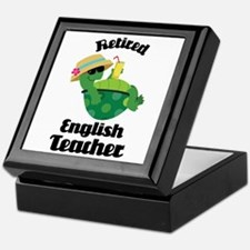 Retired English Teacher Gift Keepsake Box