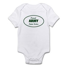 Proud Army Twin Sister Infant Bodysuit