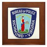 Richmond Police Framed Tile