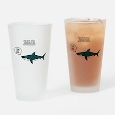 Sharkasm Drinking Glass