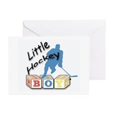 Little Hockey Boy Greeting Cards (Pk of 10)