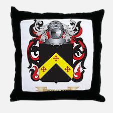 Corney Coat of Arms Throw Pillow