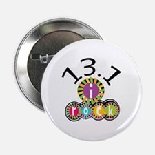 """13.1 I Rock 2.25"""" Button (100 pack)"""