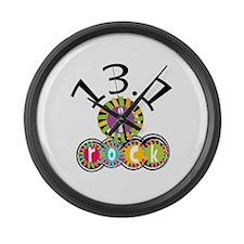 13.1 I Rock Large Wall Clock