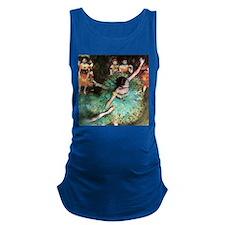 Edgar Degas The Green Dancer Maternity Tank Top