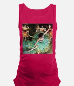 Edgar Degas The Green Dancer Maternity Tank Top