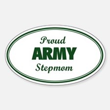 Proud Army Stepmom Oval Decal