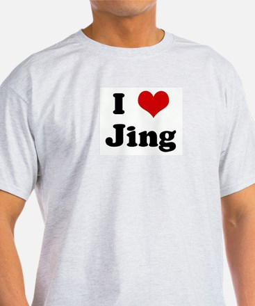 I Love Jing Ash Grey T-Shirt