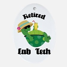 Retired Lab Tech Gift Ornament (Oval)