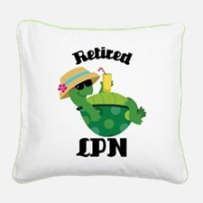 Retired LPN Gift Square Canvas Pillow