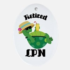 Retired LPN Gift Ornament (Oval)