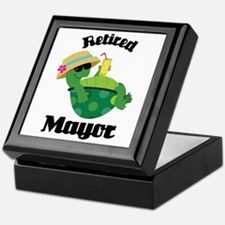 Retired Mayor Gift Keepsake Box