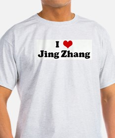 I Love Jing Zhang Ash Grey T-Shirt