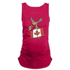Canada Day Moose Maternity Tank Top
