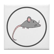 Cute Mouse Tile Coaster