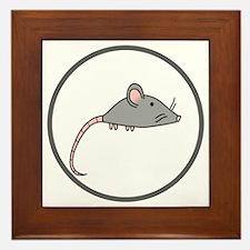 Cute Mouse Framed Tile