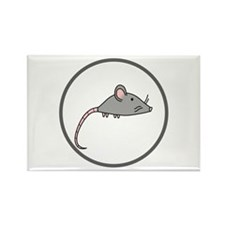 Cute Mouse Rectangle Magnet
