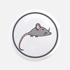 """Cute Mouse 3.5"""" Button (100 pack)"""