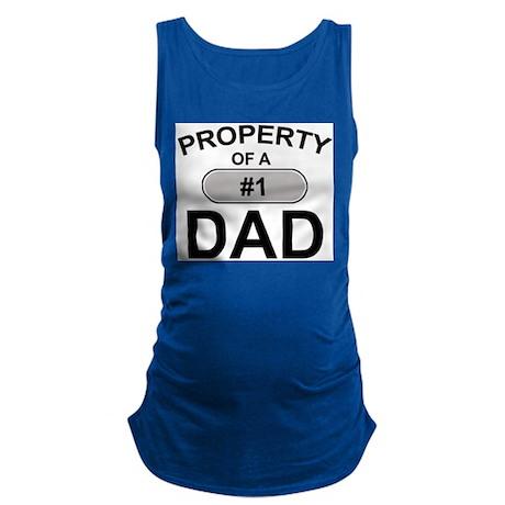 #1 Dad Maternity Tank Top