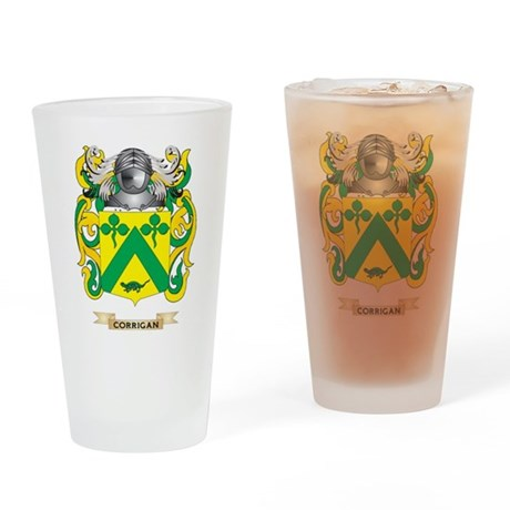 Corrigan Coat of Arms Drinking Glass