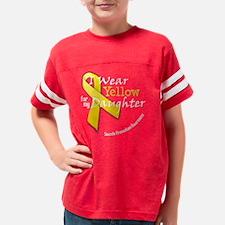 trans_i_wear_yellow_for_my_da Youth Football Shirt