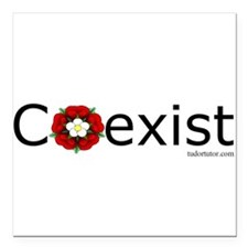 """Coexist, Henry VII-style Square Car Magnet 3"""" x 3"""""""
