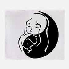 Zen front/back Throw Blanket