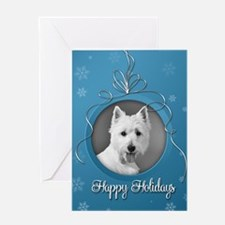 Elegant Westie Holiday Card