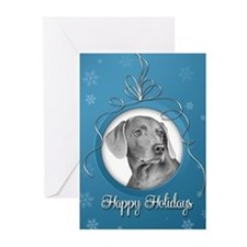 Elegant Weimaraner Holiday Cards (Pk of 10)